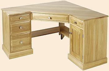 Oak and pine corner desks the desk centre uk - Pine corner desks ...
