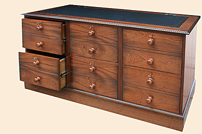 Premier Range DC026 Six Drawer Filing Cabinet ( horizontal ) Light Antique Mahogany Finish with wooden turned knobs fitted. Creating a Victorian look & The Desk Centre UK - Pedestal Desks u0026 Filing Systems